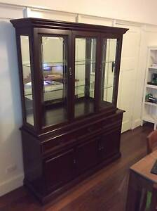 Glass fronted display cabinet (buffet and hutch) Tarragindi Brisbane South West Preview