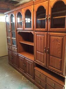 3 piece solid wood cabinets