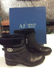 Armani Exchange jeans- winter boots