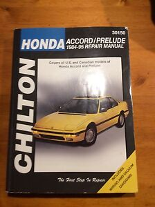 Chilton Repair Manual for Honda - Accord and Prelude 1984 - 1995