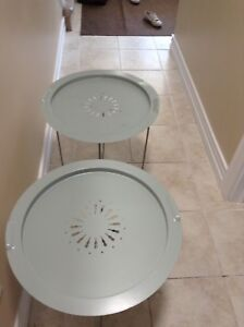 Set Of Decorative Serve Tray Tables