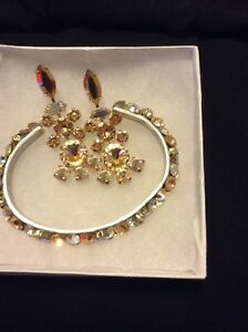 New never used Swarovski crystal set