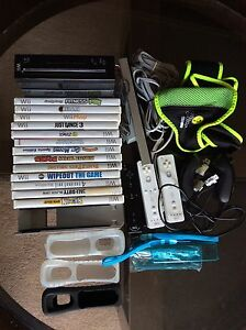 Wii console, accessories and games