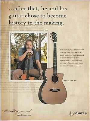 Bob Weir Alvarez Yairi WY1 acoustic guitar ad 8 x 11 advertisement Grateful Dead for sale  Shipping to Ireland