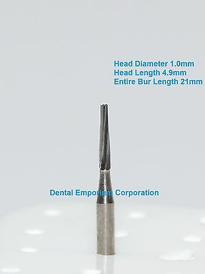 Dental Carbide Burs Fg 170l Tapered Fissure For High Speed Hp 10 Per Package