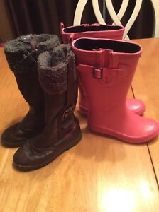 Girls rubber and winter boots size 11