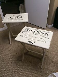 Shabby chic TV folding tables