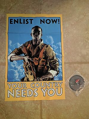 "Battlefield 1 Collector's Edition ""Enlist Now!"" Cloth Poster + Cavalry Patch NEW"