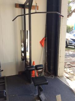 Lat and rowing machine Mona Vale Pittwater Area Preview