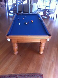 Casa 8ft x 4ft slate top pool table with accessories Brigadoon Swan Area Preview