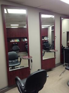 8 Salon Mirrors & Shelving Unit