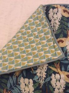 Pottery Barn teal blue bird two standard pillow shams