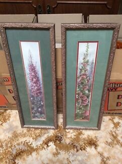 Foxglove Pictures Framed Pair