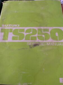 1982 Suzuki TS250 OEM Factory Service Manual