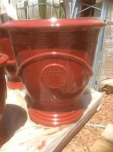Huge Glazed red ribbon pot Wattle Grove Kalamunda Area Preview