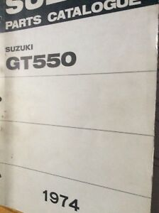 1974 Suzuki GT550 Parts Catalogue