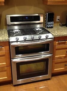 Kitchen Aid Duel Fuel Stainless Steel Stove