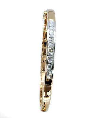 (1.10 ct Baguette Diamond Bangle Bracelet)