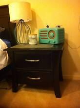 2x Bedside Tables - Beautiful Dark Brown/Black (+Full Bed Set) Albert Park Port Phillip Preview