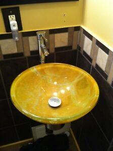 Wall mount sink and faucet