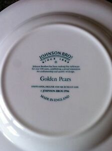 Johnson Brothers Golden Pears Dinner setting Dingley Village Kingston Area Preview