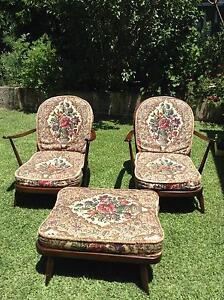 ERCOL CHAIRS (2) & FOOTSTOOL Bicton Melville Area Preview