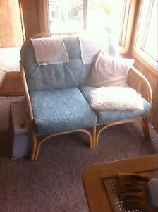 Vintage retro cane 2 seater and 2 single seater chairs and table Wallaroo Copper Coast Preview
