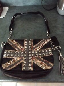 Union Jack studded purse