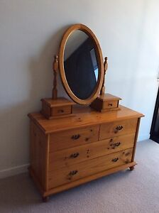 Bedroom dresser with mirror and bedside drawers Coorparoo Brisbane South East Preview