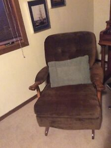 Plush queen size hide a bed and rocking chair