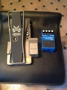 Wah pedal and boss compressor