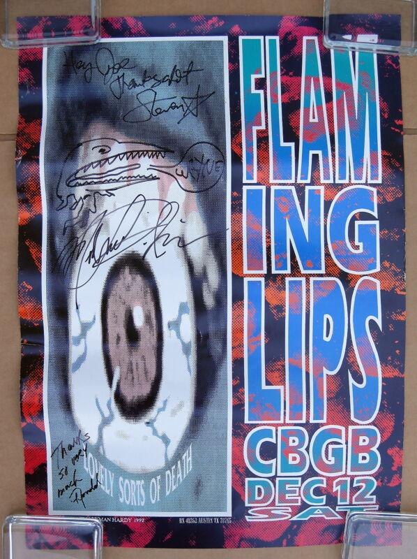 FLAMING LIPS New York CBGB 1992 US ORG AUTOGRAPHED Concert POSTER Wayne Coyne