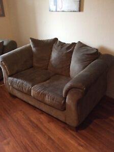 Loveseat and chaise lounge