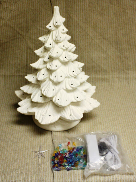 Ceramic Bisque 19 Inch Christmas Tree Nowell Mold 342 Ring Kit ...