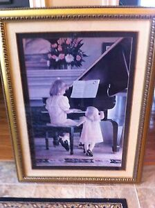 Large Framed Piano Picture