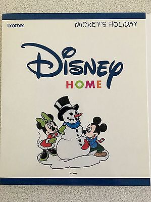 """OOP Brother """"MICKEY'S HOLIDAY"""" Disney Home Embroidery Design Card PES FORMAT"""
