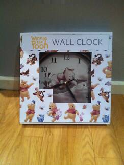 Gorgeous Antique Look Winnie the Pooh Wall Clock