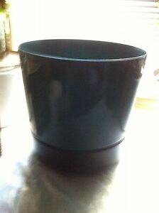 Green large flower pot with bottom