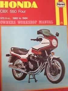 1982 1983 1984 Honda CBX 550 Haynes Workshop Manual