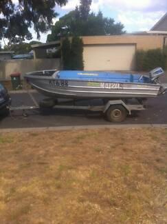 14 ft Aluminium Boat With Galvanised Trailer