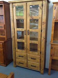 Woolshed New Zealand Pine Glass Display Cabinet FACTORY DIRECT Dandenong South Greater Dandenong Preview