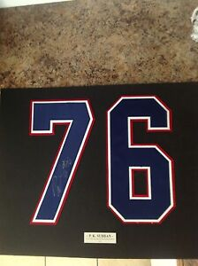 Autographed PK Subban number 76 with name plaque