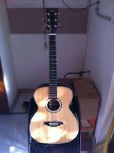 Solid spruce top , semi-acoustic OM guitar (set up) Bexley North Rockdale Area Preview