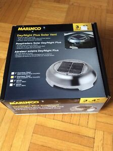 Boat or RV Solar Vent - Stainless Steel - Marinco