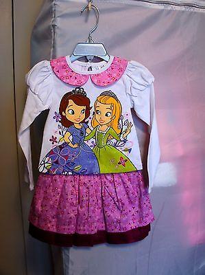 Disney Princess Sofia The First & Amber Skirt & Top Set - Girls Size:2, 7/8  - Sofia The First Skirt
