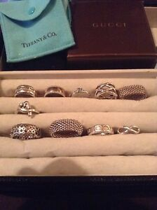 AUTHENTIC TIFFANY AND CO RINGS