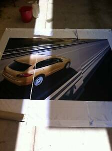 2.2m x 2.26m PORSCHE cayenne Fabric Banner for mancave or shed Noble Park North Greater Dandenong Preview