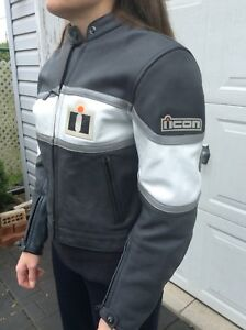 Brand new Icon woman's leather jacket