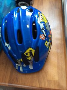 Frozen and paw patrol folding chairs and childs bike helmet