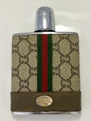VINTAGE 70s 80s GUCCI PLUS FLASK ULTRA RARE STAINLESS STEEL BARWARE COLLECTIBLE